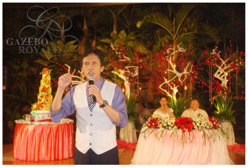 Singer:Song-writer Mr. Rey Valera singing for our couple